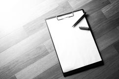 Notebook with marker Royalty Free Stock Image