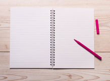Notebook with marker Stock Photography