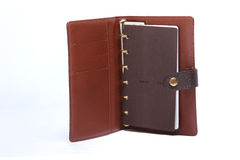 Notebook memo leather cover Royalty Free Stock Image