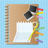 Notebook and memo sheet. Royalty Free Stock Photos