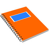 Notebook with metal spiral Stock Photography