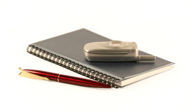 The notebook and mobile phone Royalty Free Stock Images