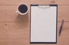 Notebook with mobile top view, study and office work Royalty Free Stock Image