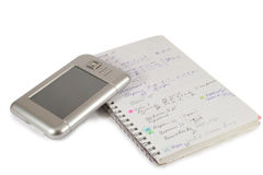 Notebook and modern PDA 2 Royalty Free Stock Photo