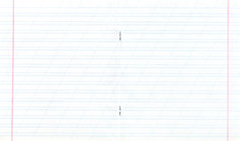Notebook narrow lined double-page spread Stock Photography