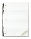 Notebook with nice page curl isolated on white. Notebook with nice page curl isolated on pure white royalty free stock photography