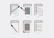 Notebook, notepad icon. Royalty Free Stock Image
