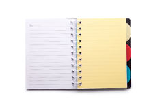 Notebook or notepad. Notebook on a white background Stock Photography