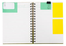 Notebook  with notepaper Stock Photography