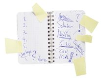 notebook with notes Stock Photography