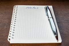 Notebook for the notes Royalty Free Stock Images