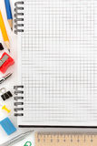 Notebook and office accessories stock image