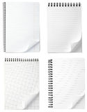 Notebook office blank  paper with curl Stock Photography