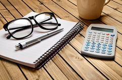 Notebook and office supply Royalty Free Stock Photos