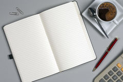 Notebook - Office Tabletop - Take a Memo royalty free stock photography
