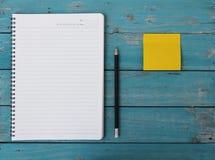 Notebook On Desk Stock Photography
