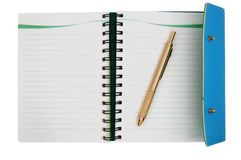 Notebook open Stock Image