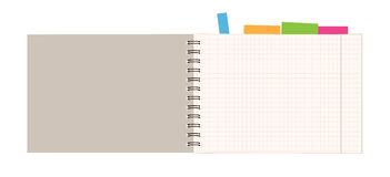 Notebook open page for your design Stock Photos