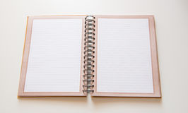 Notebook open Stock Photo
