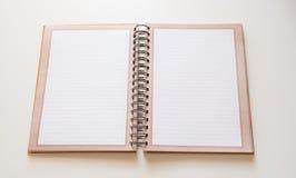 Notebook open Stock Photo