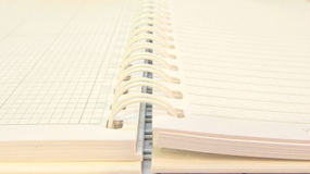 Notebook. Opened notebook under artificial light Stock Image