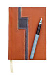 Notebook or organizer or diary and pen Royalty Free Stock Photos
