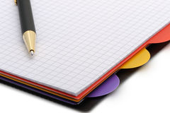Notebook - organizer with the stylish pen Royalty Free Stock Photos