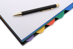 Notebook - organizer with the stylish pen Royalty Free Stock Photo