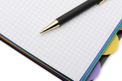 Notebook - organizer with the stylish pen Royalty Free Stock Image
