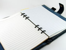 notebook diary on white background Stock Images