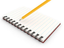 Notebook over white background Royalty Free Stock Images