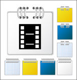 Notebook page. Color Notebook page  illustration Royalty Free Stock Image