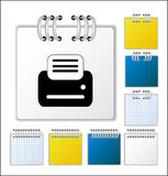 Notebook page. Color Notebook page  illustration royalty free illustration