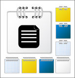Notebook page. Color Notebook page  illustration Stock Photography