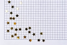 Notebook page with stars Stock Photo