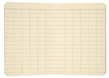 Notebook Pages with Gridded Lines Royalty Free Stock Image