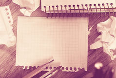 Notebook pages Royalty Free Stock Photos