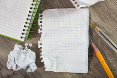 The notebook pages with the written content Royalty Free Stock Image