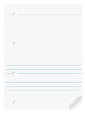 Notebook paper Stock Image