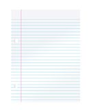 Notebook paper Stock Photography