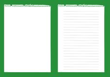 Notebook paper  Royalty Free Stock Image