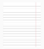 Notebook paper background Stock Image
