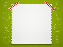Notebook paper background. Children's background. Stock Photo