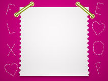 Notebook paper background. Children's background. Stock Photos