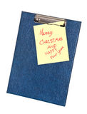 Notebook paper on a clip board. Royalty Free Stock Photos