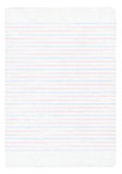Notebook paper with colorful. Lines isolated on pure white background Royalty Free Stock Photo