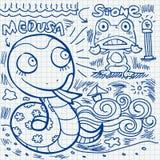 Notebook paper doodles Stock Photo