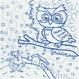 Notebook paper doodles Royalty Free Stock Photography