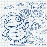 Notebook paper doodles Stock Photos