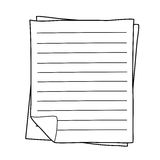 Notebook Paper drawing Royalty Free Stock Photo
